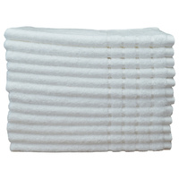 12 Hand Towels Bulk Commercial Deal 620GSM White/Charcoal
